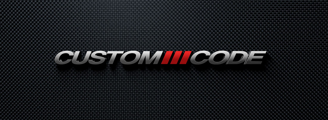 custom-code website 3d logo